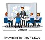 business people having board...   Shutterstock .eps vector #583412101