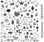 gray animals icon background | Shutterstock .eps vector #583415329