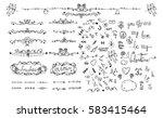 hand drawn doodles sketch... | Shutterstock .eps vector #583415464
