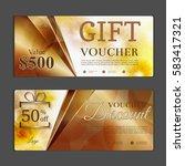 gift voucher template. can be... | Shutterstock .eps vector #583417321