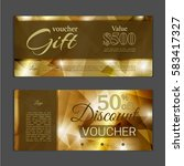 gift voucher template. can be... | Shutterstock .eps vector #583417327