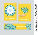 spring blossom invitation card... | Shutterstock .eps vector #583419079