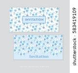 spring blossom invitation card... | Shutterstock .eps vector #583419109