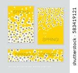 spring blossom invitation card... | Shutterstock .eps vector #583419121