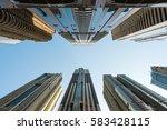 Skyscrapers In Dubai  Uae.