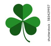 three leaf green clover leaf in ... | Shutterstock .eps vector #583429957
