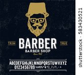 typeface. label. barber shop... | Shutterstock .eps vector #583430521