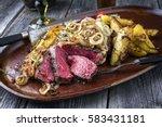 kobe entrecote steak very rare...