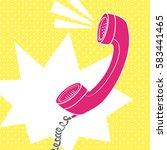 Handhold Telephone Pop Art Style