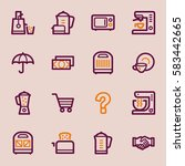 kitchen appliances web icons | Shutterstock .eps vector #583442665