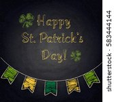 happy st.patrick's day on... | Shutterstock .eps vector #583444144