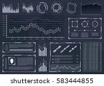 futuristic user interface with... | Shutterstock .eps vector #583444855