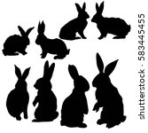 rabbit animal  vector ... | Shutterstock .eps vector #583445455
