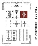 victorian decorative design... | Shutterstock .eps vector #5834458