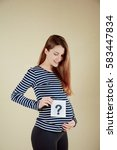 pregnant beautiful woman | Shutterstock . vector #583447834