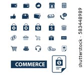 commerce icons | Shutterstock .eps vector #583448989