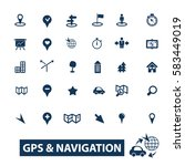 gps navigation icons | Shutterstock .eps vector #583449019