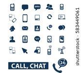 call chat icons | Shutterstock .eps vector #583449061