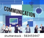 global connection internet... | Shutterstock . vector #583453447