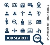 job search icons  | Shutterstock .eps vector #583458811