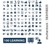 learning icons  | Shutterstock .eps vector #583458835