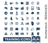 training icons | Shutterstock .eps vector #583461631