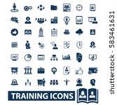 training icons | Shutterstock .eps vector #583461631