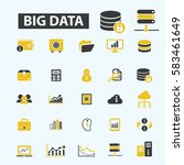 big data icons | Shutterstock .eps vector #583461649