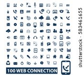 web connection icons | Shutterstock .eps vector #583461655