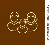 family icon flat. | Shutterstock .eps vector #583462159