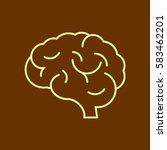 brain icon flat. | Shutterstock .eps vector #583462201
