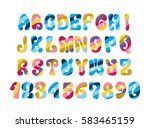 psychedelic font with colorful...