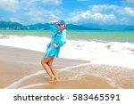 summer women girl on the beach    Shutterstock . vector #583465591