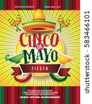 cinco de mayo poster design.... | Shutterstock .eps vector #583466101