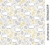 seamless pattern with flowers... | Shutterstock .eps vector #583466359