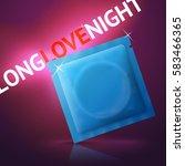 vector condom advertisement... | Shutterstock .eps vector #583466365