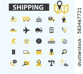 shipping icons | Shutterstock .eps vector #583467721