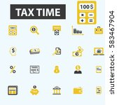 tax time icons | Shutterstock .eps vector #583467904