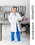 young female medical examiner... | Shutterstock . vector #58346953