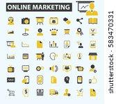 online marketing icons | Shutterstock .eps vector #583470331