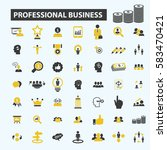 professional business icons | Shutterstock .eps vector #583470421