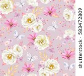Seamless Spring Pattern With...