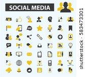 social media icons | Shutterstock .eps vector #583473301