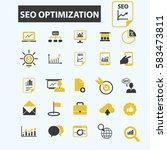 seo optimization icons    Shutterstock .eps vector #583473811
