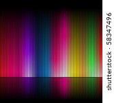 Abstract Rainbow Colours On A...