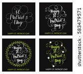set of greeting cards designed... | Shutterstock .eps vector #583479571