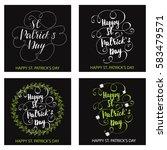 set of greeting cards designed... | Shutterstock .eps vector #583479571