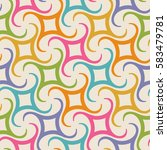 vector seamless pattern with... | Shutterstock .eps vector #583479781