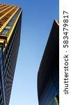 closeup view of skyscraper with ... | Shutterstock . vector #583479817