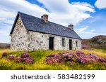 lonely cottage on the north...   Shutterstock . vector #583482199